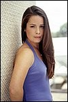 Holly Marie Combs in Hot Western Casual Look