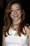 Alyson Hannigan in See through white shirt