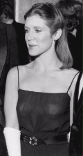 Carrie Fisher in see  through