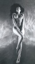 Black and white drawing of naked girls