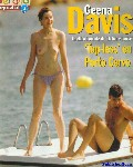 Geena Davis nude in Topless swimming