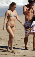 Kate Hudson in bikini at the beach