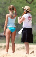 Indiana Evans in Filming 'The Blue Lagoon' in Maui