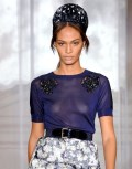 Joan Smalls in Paris Fashion Week: Nina Ricci Spring 2012