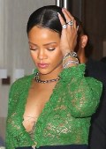 Rihanna in see  through