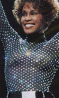 Whitney Houston in see  through