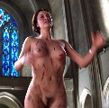 Charlize Theron nude in The Devil's Advocate