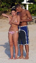 Charlotte Church in bikini at the beach