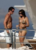 Cindy Crawford nude in topless on a yacht