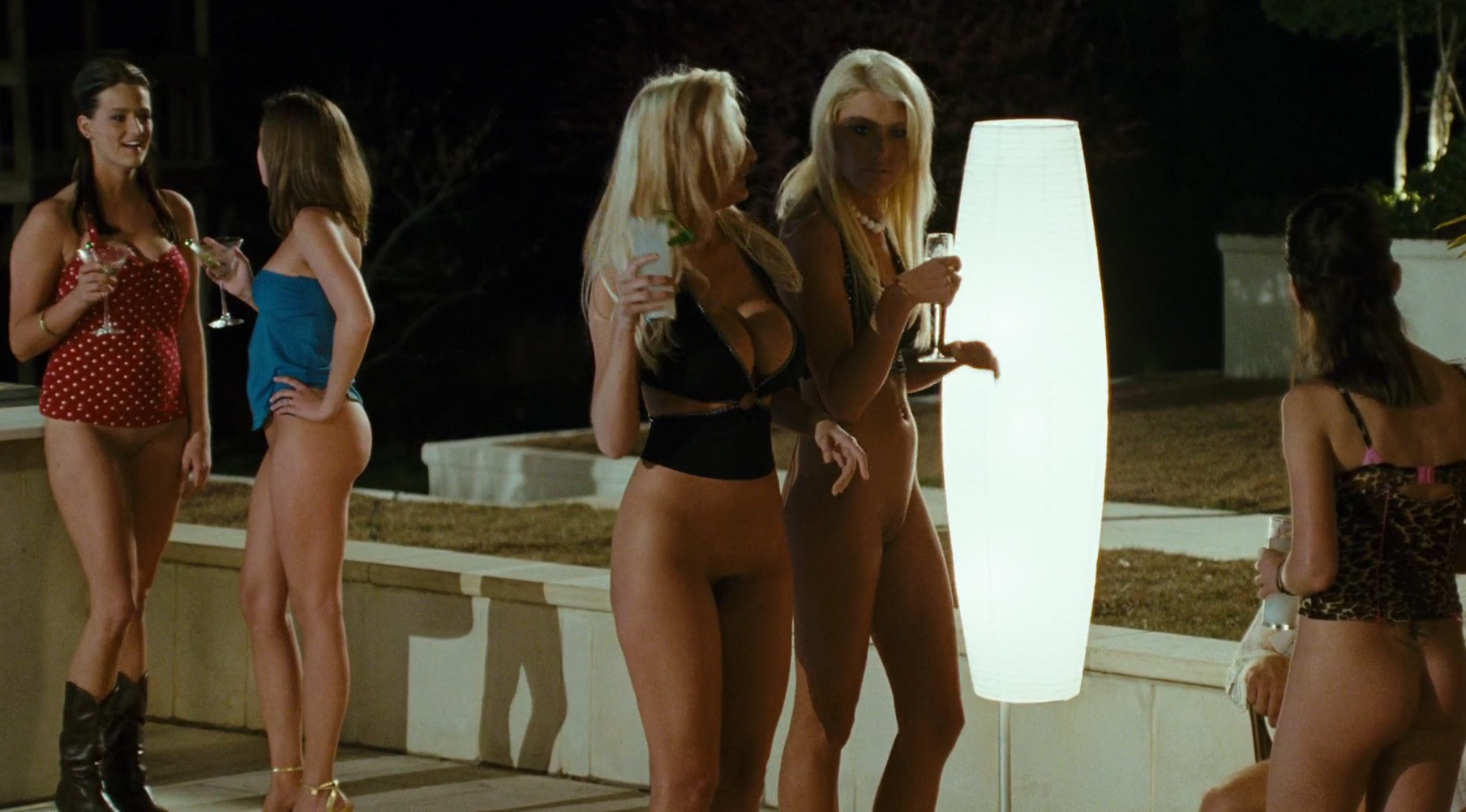 girl Bottomless blonde party