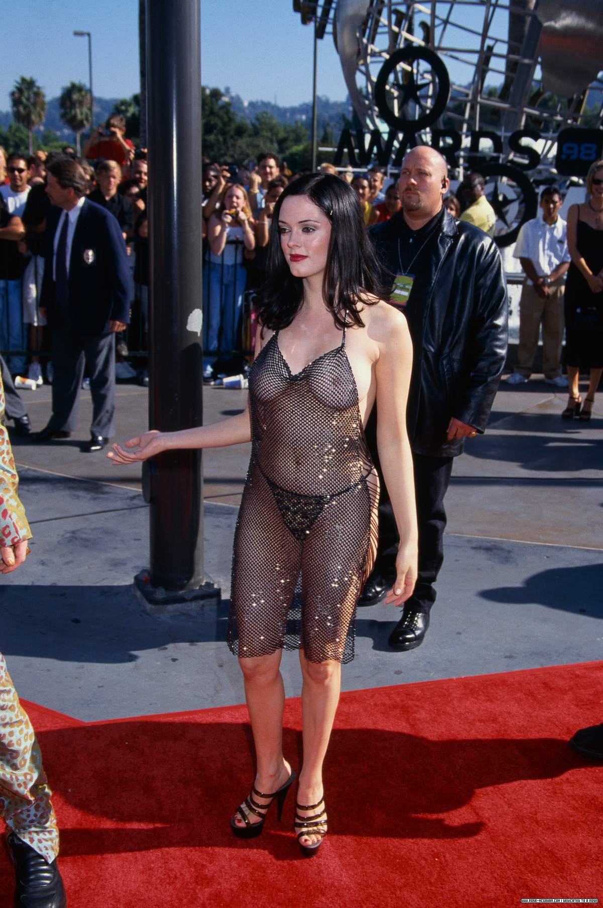 Porn photo naked Rose McGowan.